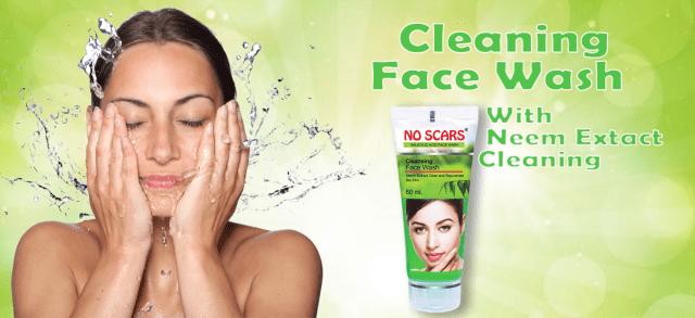 no scars neem extract facewash.